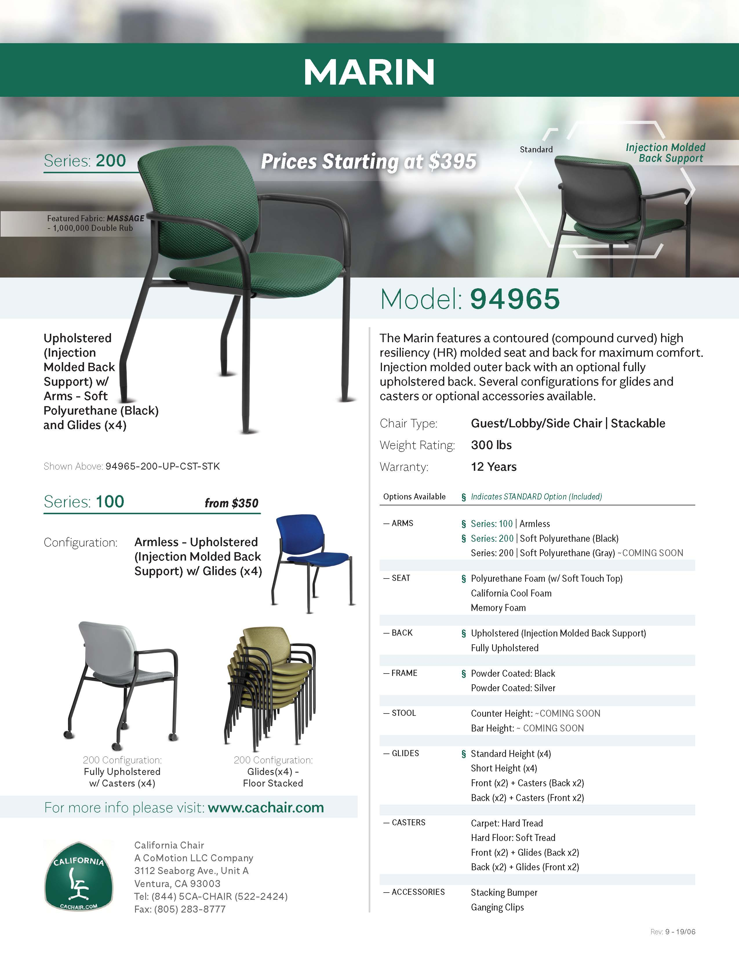 Cut Sheet: Marin - 94965